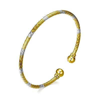 05b83eb5f65 WINNICACA Elegant Bracelet Cuff Bangle Bracelet 18K Gold Plated Open Bracelet  Jewelry for Women Girls Wife