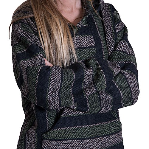 - Orizaba Original Hoodie Drug Rug - Forest Green Brown Black Classic - Yosemite S