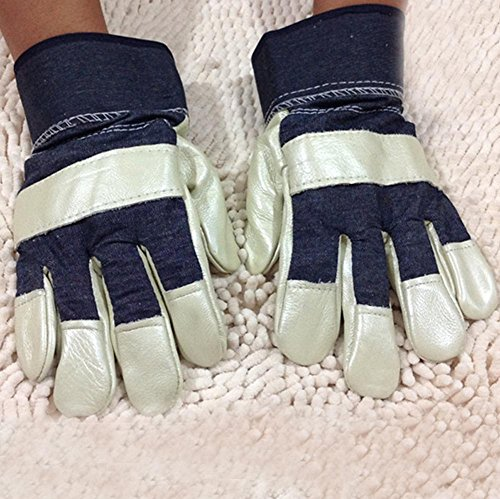 (Light - colored denim labor insurance gloves wear - resistant welding anti - penetration welder protection supplies safety protection tools )