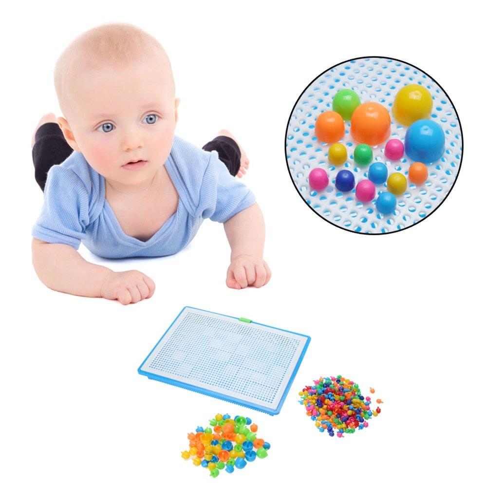 b1c618fec823a Creative Mosaique Puzzle 296pcs Bloc de Construction Magnétique Jeu de Construction  Colorée Jouet Educatif DIY Assortiment ...