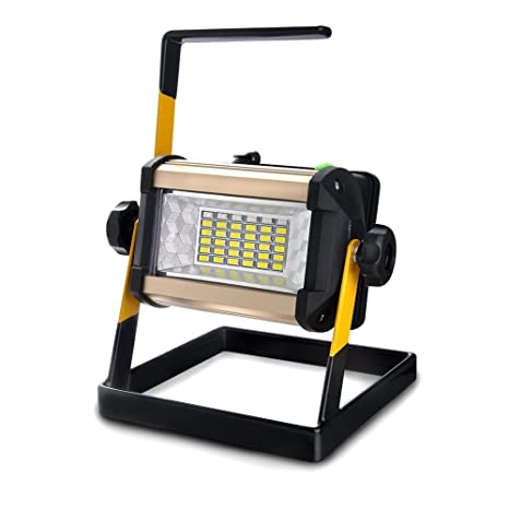 faro led ricaricabile  SUAVER 50W Lampada da lavoro a LED, Impermeabile Mobile Faretto Faro ...