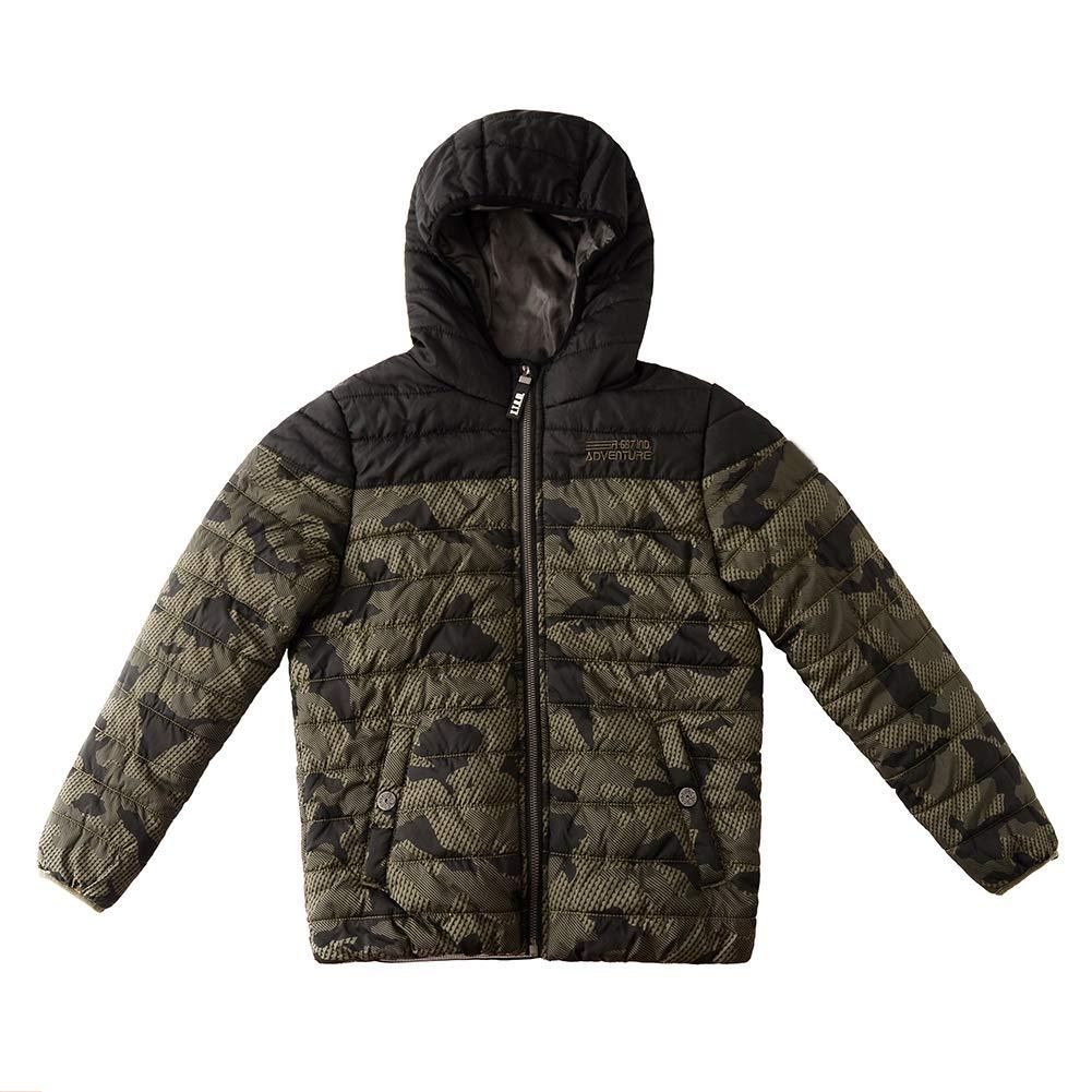 2b4373c0b Amazon.com  SNOW DREAMS Little   Big Boys Camo Quilted Jacket ...