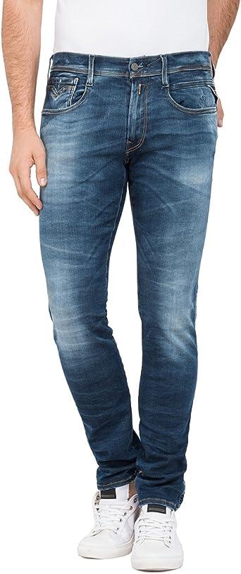 Replay Men/'s Anbass Slim Jeans Blue 32W 30L Blue Denim 9