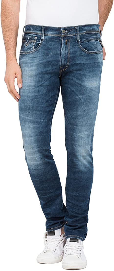 Replay Men's Anbass Stretch Jeans, Blue (Blue Denim 9), W31