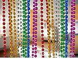 JIA MIN Christmas Beaded Garland Shiny Beads Hanging String Christmas Tree Beads for Bedroom Christmas Xams HolidayIndoor Room Window Wedding Party Decoration (5m, green)