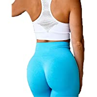 Damleggings kvinnor, Womens High Waist Seamless Yoga Pants Sexy Scrunch Butt Lift Tummy kontroll Skinny Leggings gym…