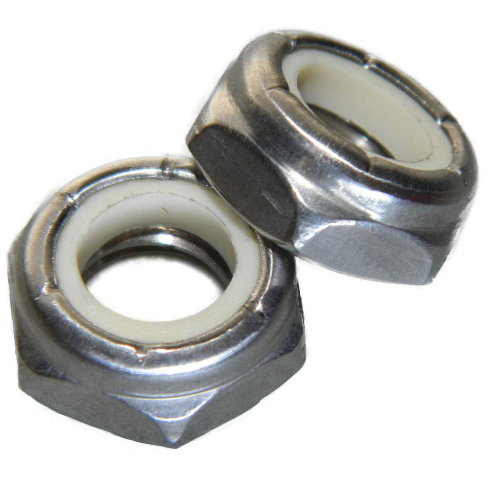 Nylon Locking 10-24 Jam Hex Nuts Qty 250 Stainless Steel 18-8