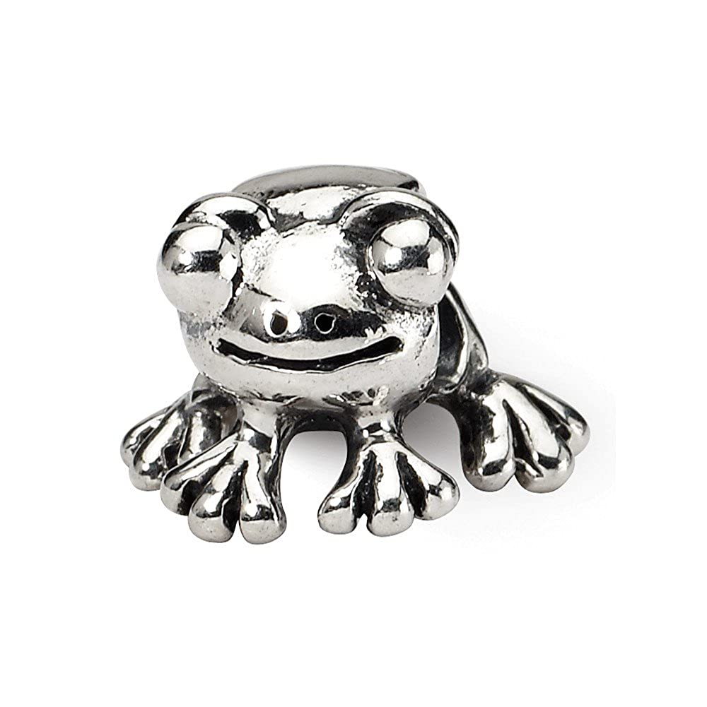 FB Jewels Solid 925 Sterling Silver Gold-Plated Reflections Monkey Bead