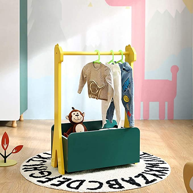 Amazon.com: Chunlan Coat Racks Solid Wood Childrens Floor ...