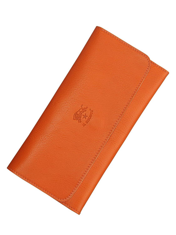 (イルビゾンテ)IL BISONTE ベジタブルタンニンレザー2つ折り長財布 8色展開 [並行輸入品] B01ANGCXZUオレンジ