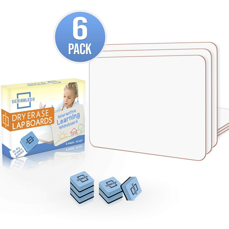 """ویکالا · خرید  اصل اورجینال · خرید از آمازون · 6 Pack Dry Erase Lap Board 9""""X12""""   Interactive Learning Whiteboard Educational (Single Sided) Erasers Included wekala · ویکالا"""