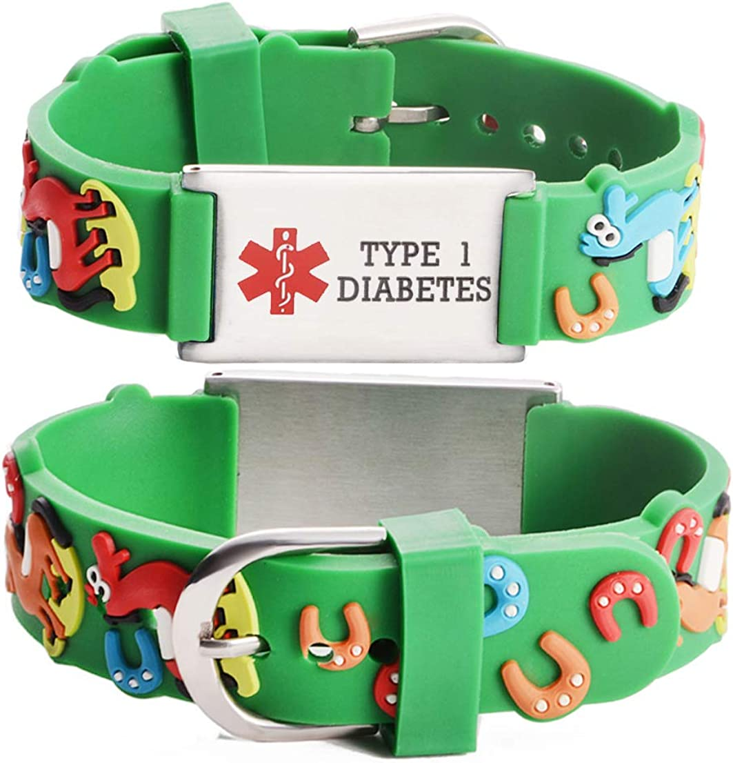 Linnalove - Pulseras de alerta médica, regalo para padres, hija, hermano, hermana, caballo