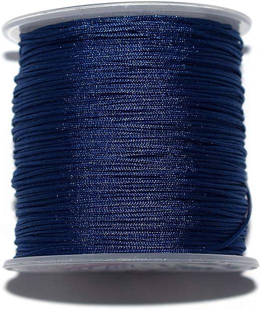 Fil nylon tress/é 1 mm bleu marine x10 m