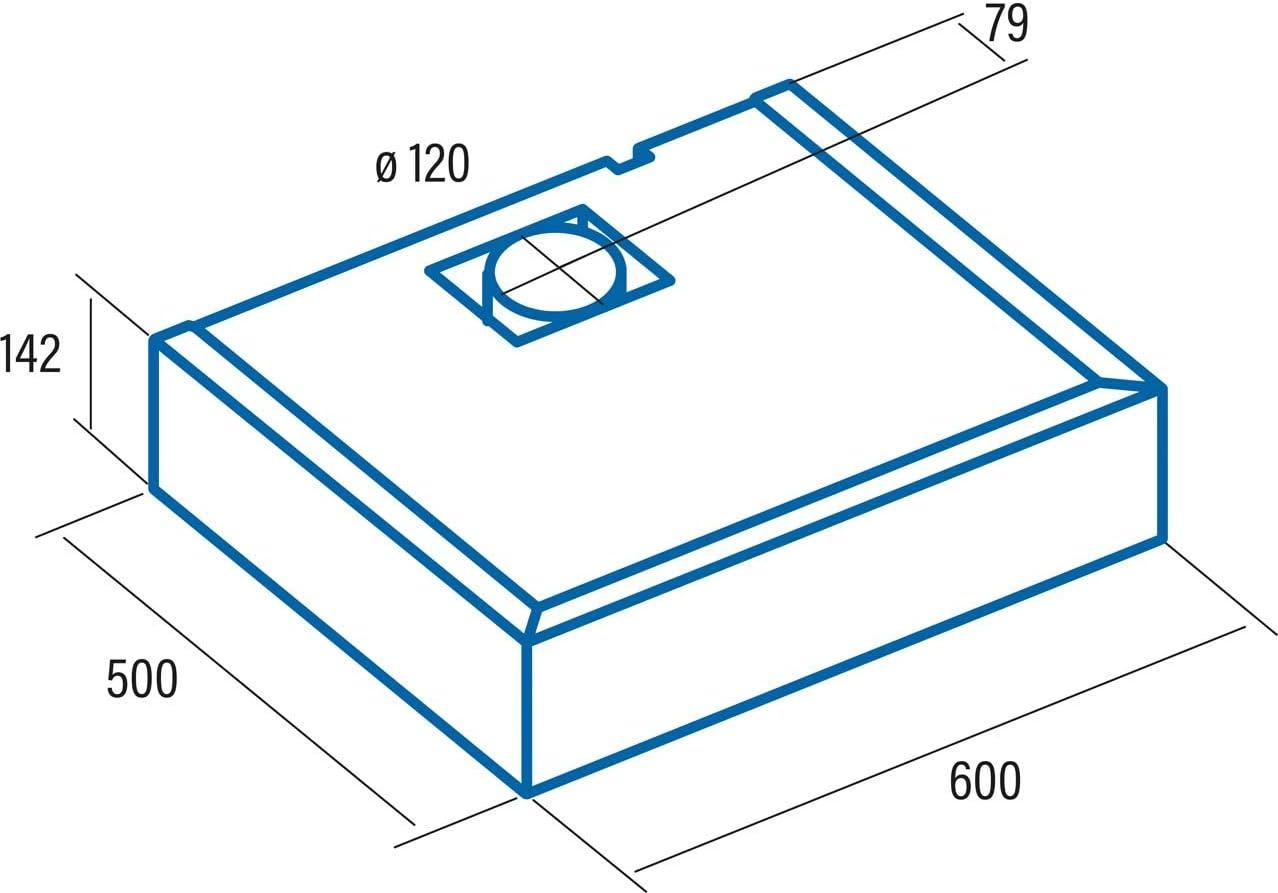 CATA F 2260 X 300 m³/h Encastrada Acero inoxidable D - Campana (300 m³/h, Canalizado/Recirculación, E, E, D, 69 dB): Amazon.es: Grandes electrodomésticos