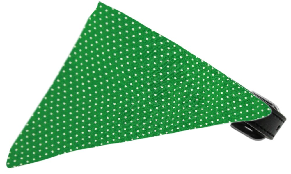Mirage Pet Products Emerald Green Swiss Dots Bandana Pet Collar, Black, Size 16 by Mirage Pet Products