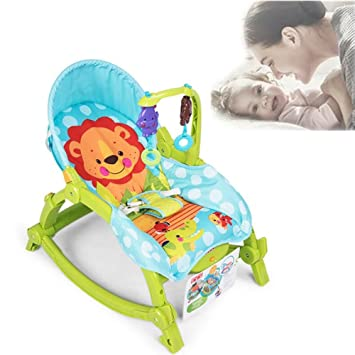 Baby swing rocking chair automatic cradle baby sleeping basket chaise lounge newborn Sleep artifact (green  sc 1 st  Amazon.com : sleeping chair for babies - Cheerinfomania.Com