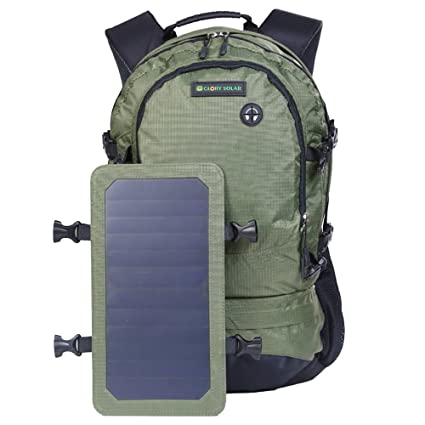 3d9cd581f5d4 Amazon.com : SmartHS 45L Solar Backpack with Detachable 6.5W Solar ...