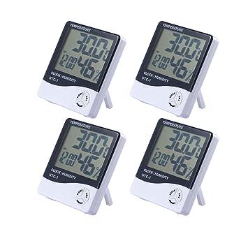 Yooap LCD termómetro Digital higrómetro, Monitor de Humedad de indicador de Temperatura Interior preciso con