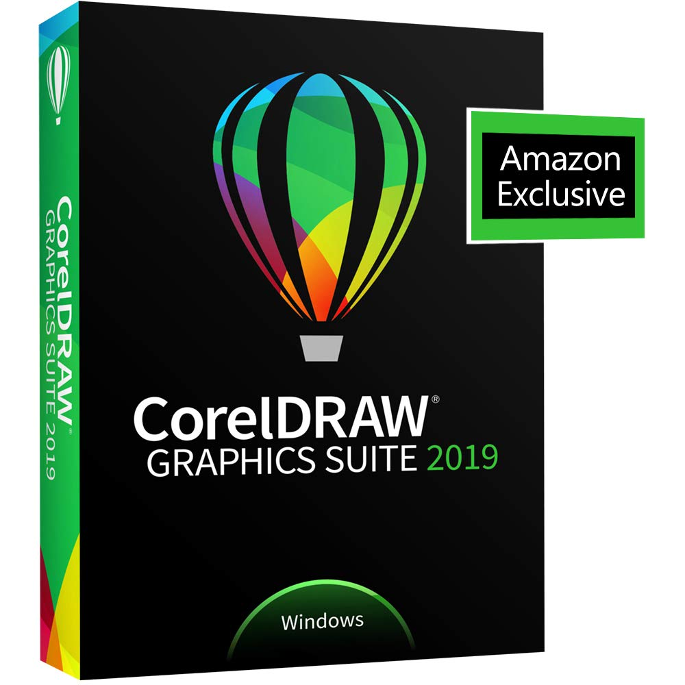CorelDRAW Graphics Suite 2019 with ParticleShop Brush Pack for Windows -- Amazon Exclusive [PC Disc] by Corel