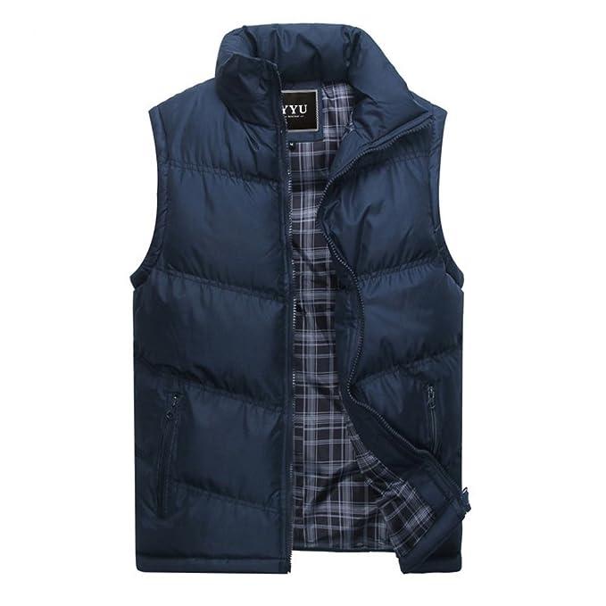 0dedd706eccf7 Chaleco de Invierno para Hombre - Otoño Invierno Chaqueta de Acolchado de  Moda Abrigo Acolchado