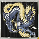 Electric Dragon Shower Curtain, Waterproof Bath Decorations Bathroom - Best Reviews Guide