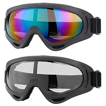 Amazon.com: MUCH - Gafas de esquí, lentes de patinaje con ...