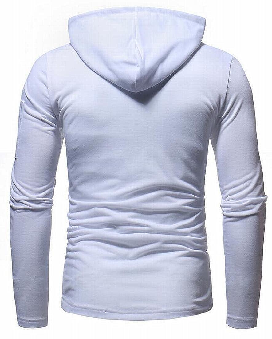 Rrive Mens Hooded Solid Slim Fit Athletic Hoodies Zipper Pullover Sweatshirts