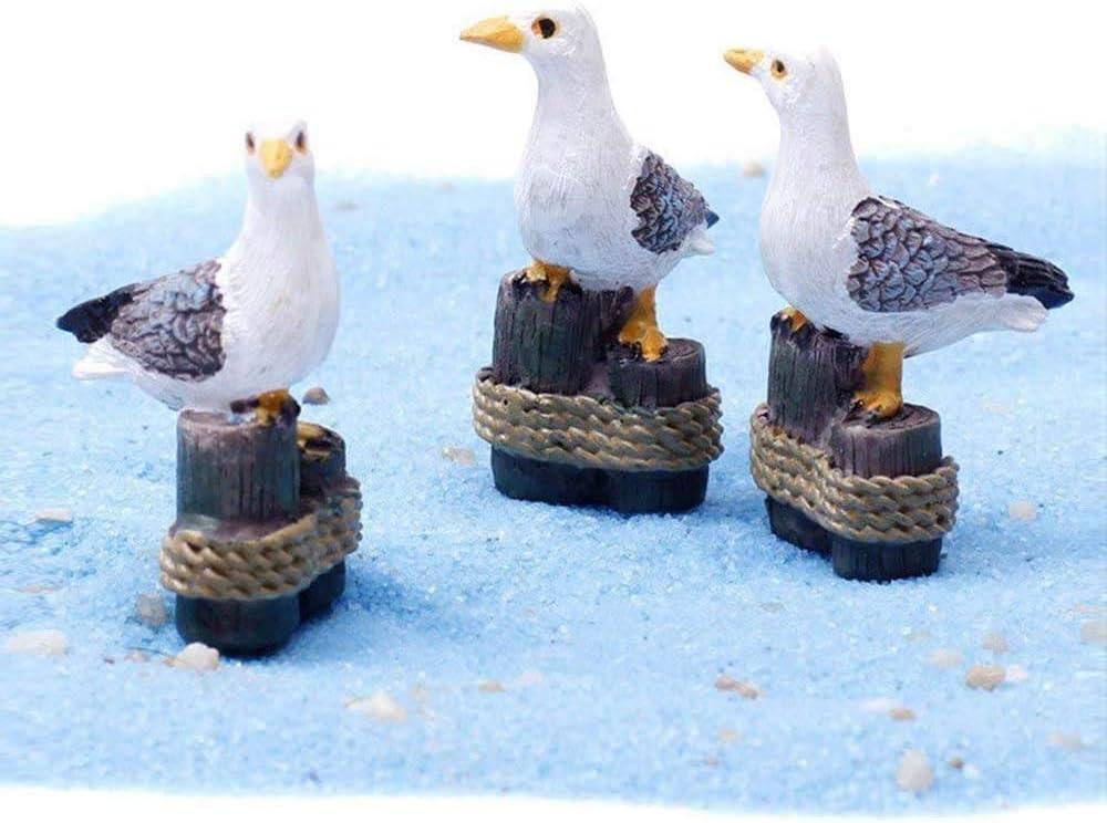 danmu arte 3pcs Mini resina gaviotas en miniatura macetas bonsai Craft Micro paisaje de bricolaje decoración