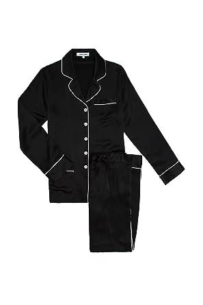 2c44d2a0a8 Olivia Von Halle Women Coco Silk Pyjama Jet Black at Amazon Women s ...