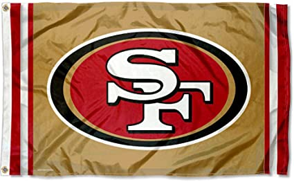 Amazon Com Wincraft San Francisco 49ers Logo Flag And Banner Sports Outdoors