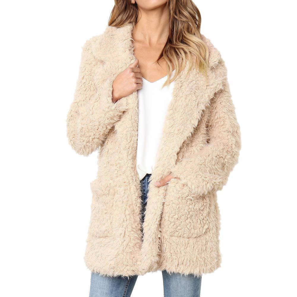 Seaintheson Women's Coats OUTERWEAR レディース B07HRCD72B Large|Khaki-a Khaki-a Large