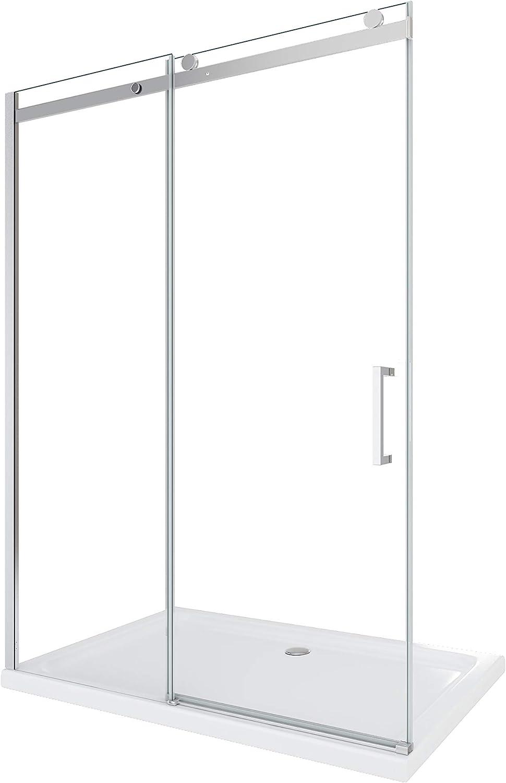 Laneri - Mampara de ducha corredera de lujo, reversible, 98 x 100,5 cm: Amazon.es: Bricolaje y herramientas