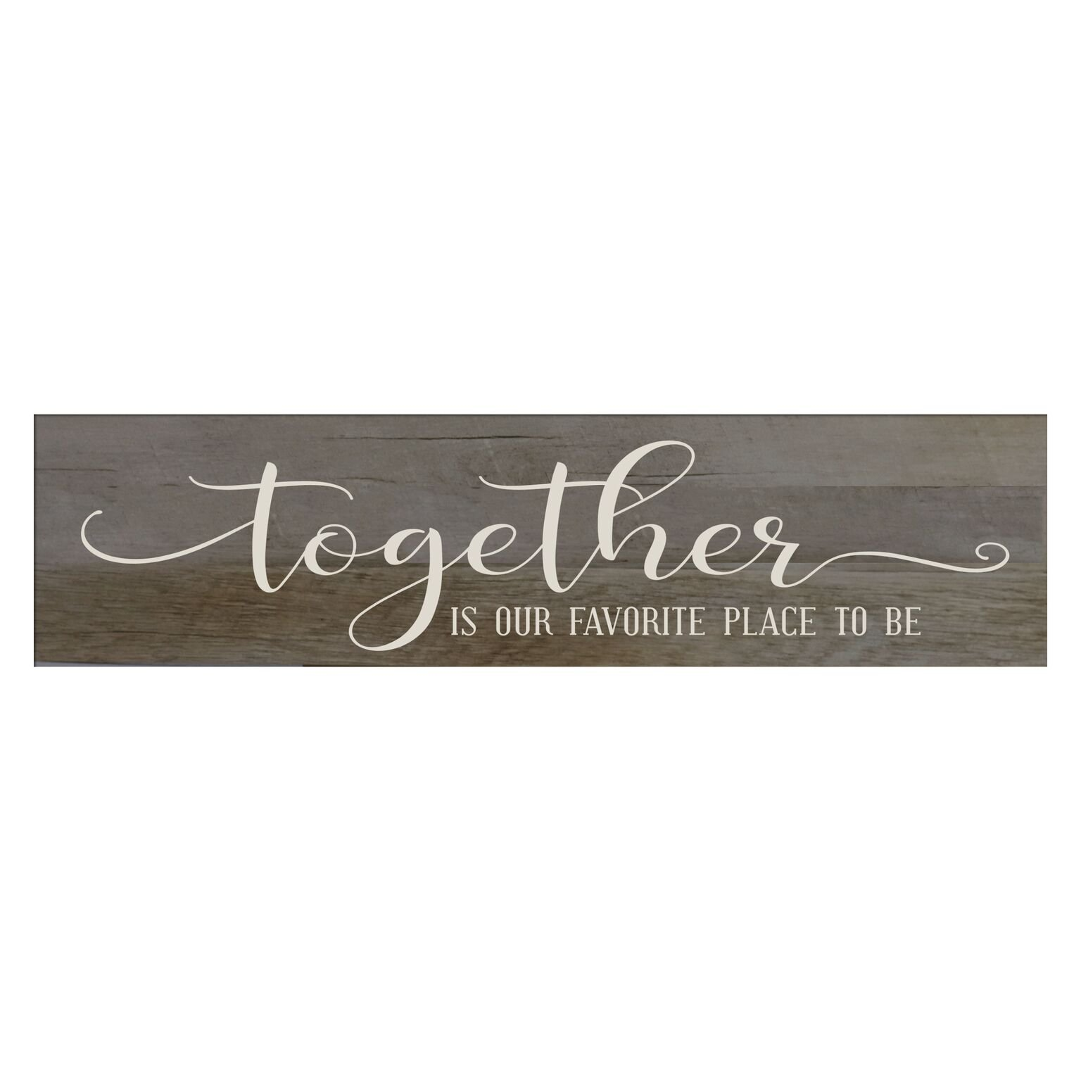 LifeSong Milestones Together is Our Favorite Place to Be, Decorative Wall Art Decor Sign for Living Room, Entryway, Kitchen, Bedroom,Office, Wedding Idea (Barnwood)