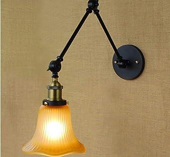 Lamparas Apliques Luces De Pared Lampara Pared Luces Apliques De Pared Apliques De Pared Estilo Vintage Loft Lámpara De Pared Industrial Edison Escalera De Brazo Accesorios De Iluminación De Pare: Amazon.es: Iluminación