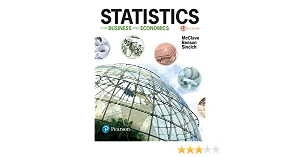 Statistics For Business And Economics 13 James T McClave