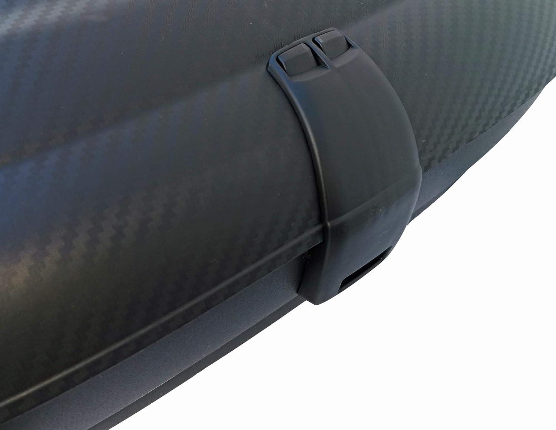 ab 2014 Dachbox VDPCA320 320Ltr carbonlook 5T/ürer Stahl Dachtr/äger Aurilis Original kompatibel mit Hyundai i10