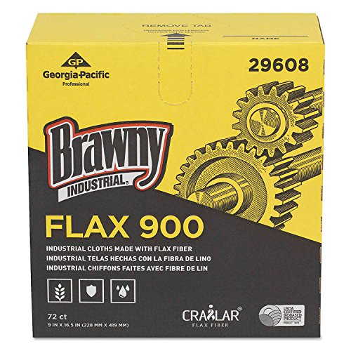 FLAX 900 Heavy Duty Cloths, 9 x 16 1/2, White, 72/Box, 10 Box/Carton, Sold as 1 Carton, 720 Each per Carton by Brawny Industrial