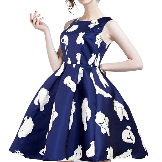 iBaste 2018 Vestidos Mujer Vintage 50s 60s Vestido Rockabilly Swing Pinup para Fiesta/Casual