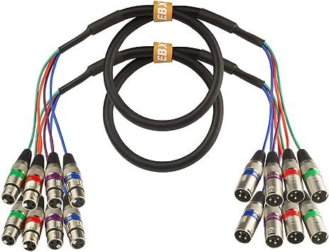 20-Feet 4-Channel XLR Male-Inch XLR Female Snake Cable