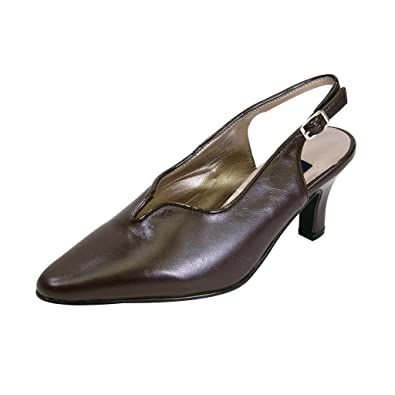 FIC PEERAGE Hope Women Wide Width Pointed Toe Dress Pump (Size and Measurement Guides Available)