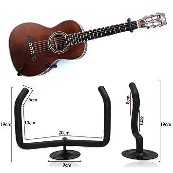 Jjprime Black Wall Mount Sling Bracket Horizontal Guitar Ukulele Wall Hanger Diy Display Set Kit