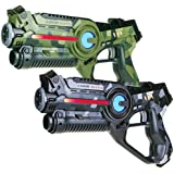 Light Battle Active Infrared Laser Tag Set for Kids. 2 Laser Guns: 1x camo green + 1x camo gray | LBAP10256D