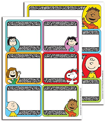 Eureka  Peanuts Composition Stickers - Label