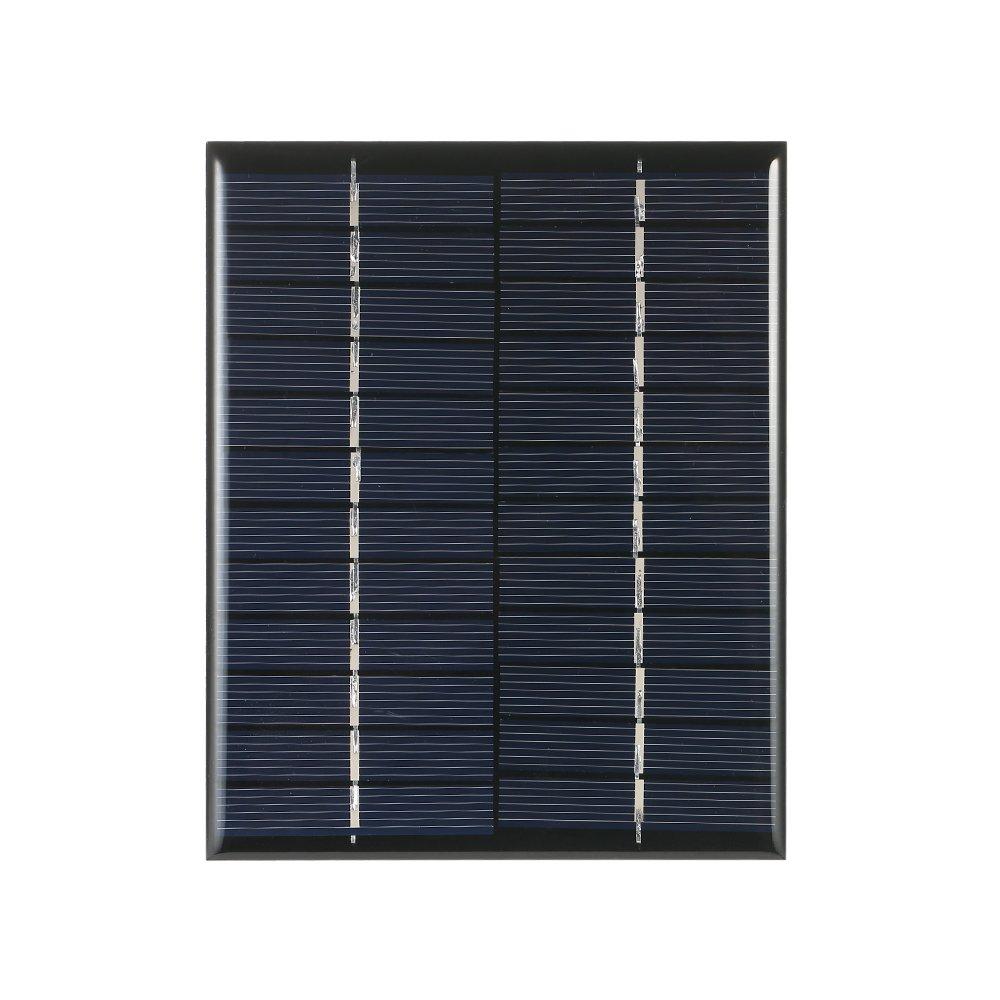 Decdeal - 2W 12V Cargador Panel Solar de Silicio Monocristalino Cé lula Solar Para DIY Cargador de Energí a