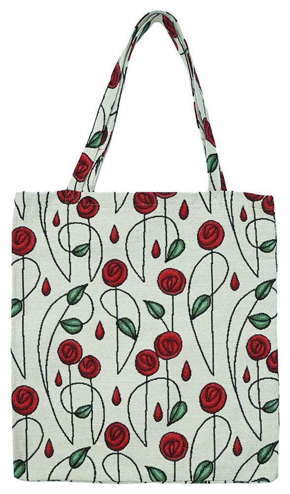 Signare タペストリー 再利用可能 食料品 エコフレンドリー ショッピングトートバッグ マッキントッシュッシュデザイン M B07J1R72C9 Simple Rose