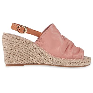 eeffd1c022a Marks   Spencer M S Collection T022947 Leather Wedge Heel Vamp Espadrilles  Sandals with Insolia® RRP