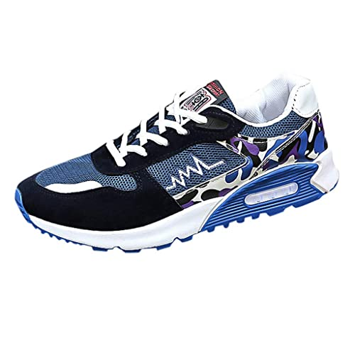 LHWY Zapatillas Mocasines de Deportes Hombres de Malla Beathing Running Sport Athletic Casual Malla Transpirable Zapatillas
