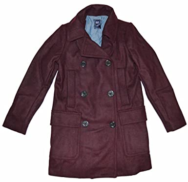 749cbb47c Amazon.com  GAP Womens Birch Beer Burgandy Wool Peacoat Coat Small 4 ...