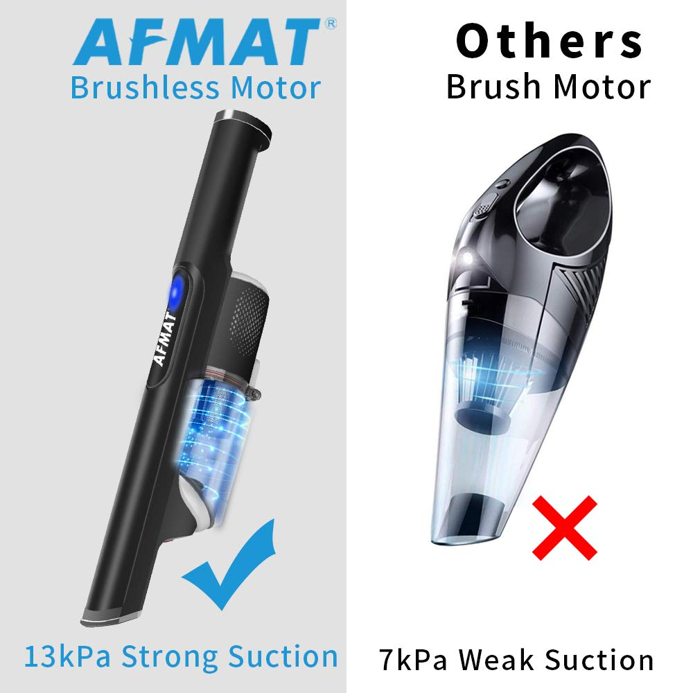 17kPa Strongest Suction Rechargeable Vacuum Cleaner for Home /&Car Cleaning Lightweight Cordless Hand Vacuum Black Fast Charging One-Release Dust Cup Car Hand Held Vacuum Portable Hand Vacuum