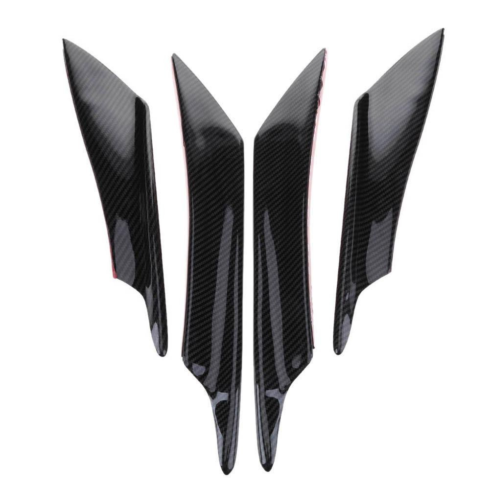 4pcs Carbon Fiber Color Car Front Bumper Splitter Fins Body Spoiler Canards by yanrifeng